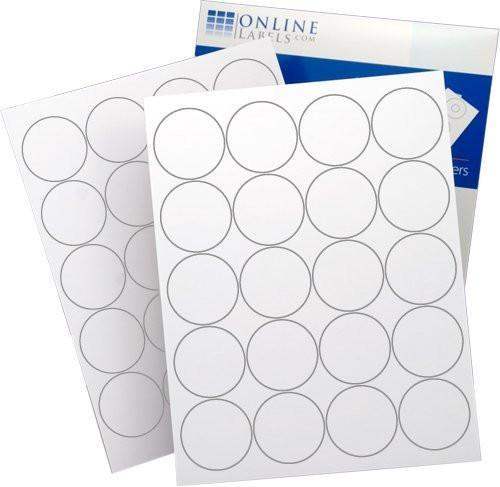 2in Round White Labels (2000 Count)