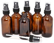 2oz Amber Glass Spray Bottles (6 Pack)