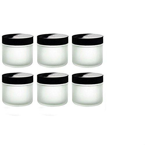 2oz Frosted Glass Jars (6 Pack)