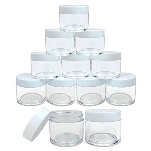 30ml Clear Acrylic Jars (12 Pack)
