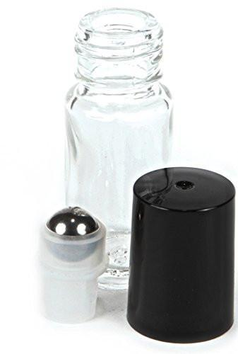 4ml Clear Glass Roller Bottles (6 Pack)