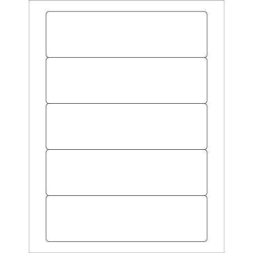 7in x 2in White Rectangular Labels (25 Count)