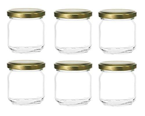 8oz Clear Glass Jars (6 Pack)