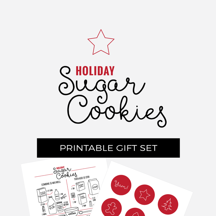 Essential Oil Holiday Cookie Recipe Printable