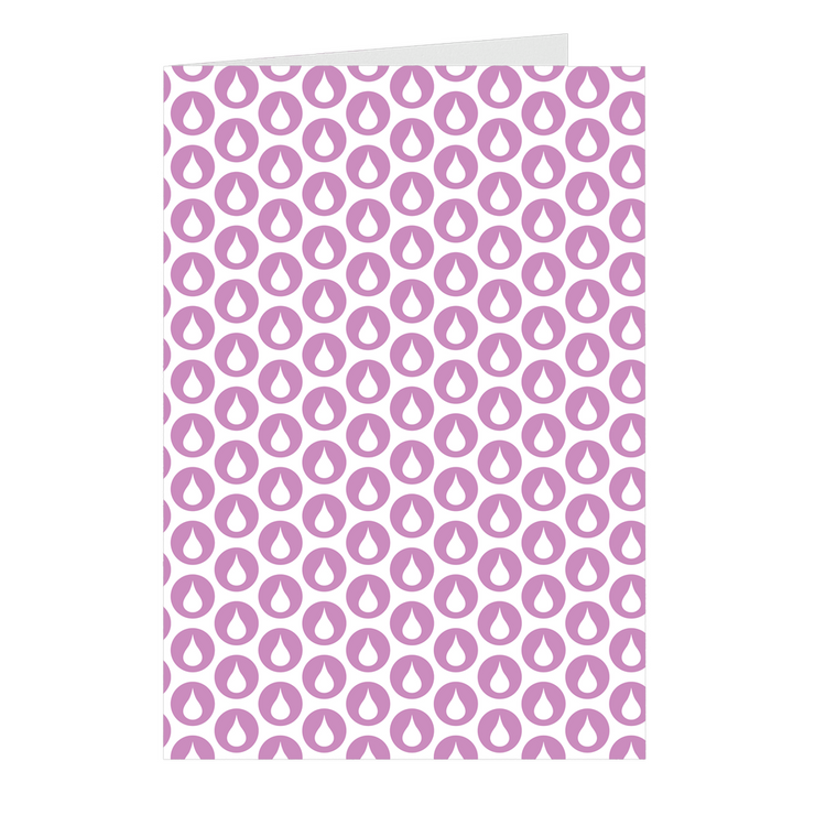 Purple Drop Notecards