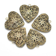 Antiqued Bronze Toned Essential Oil Diffuser Lockets (5 Pack)