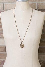 Antiqued Bronze Toned Essential Oil Diffuser Necklace