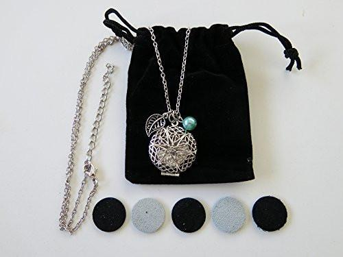 Antiqued Silver Toned Bohemian Essential Oil Diffuser Necklace