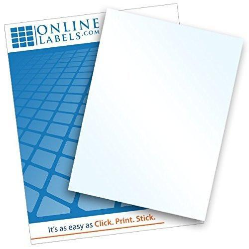 Clear Glossy Vinyl Sticker Paper (100 Sheets)
