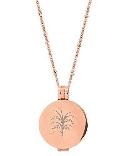 Customizable Rose Gold Toned Essential Oil Diffuser Necklace