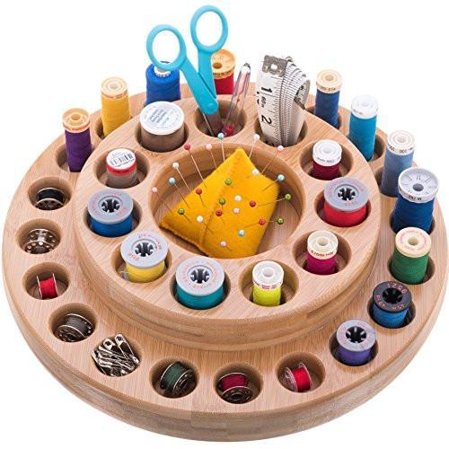 Essential Oil Wooden Storage Carousel is better than a box. Different size holes will fit 10ml, 30ml, roller bottles and more. Great essential oil gift.