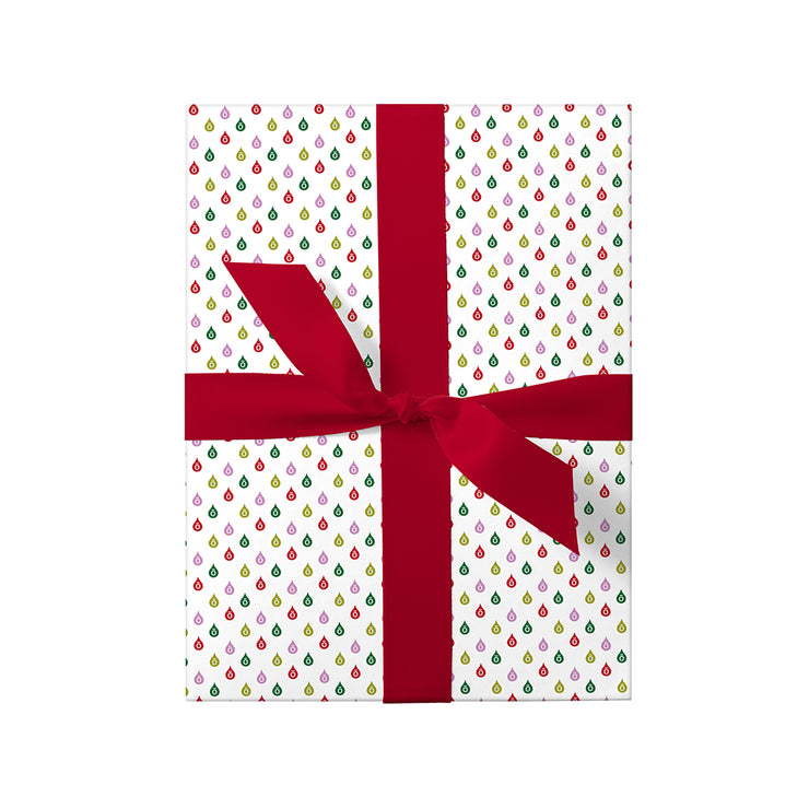 Festive Drops Wrapping Paper Pack