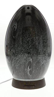 Hand Blown Obsidian Glass Essential Oil Diffuser
