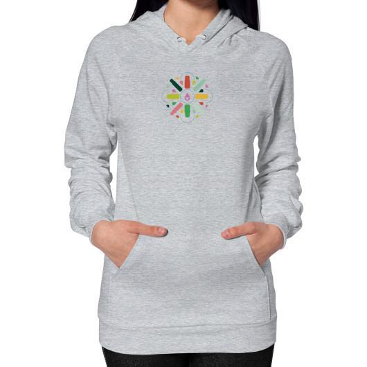 Hoodie S / Heather grey Hoodie (on woman)