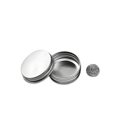 Houseables Aluminum Tin Jars, 1 Oz, 30 ML Gram Jar, 12 pcs, Cosmetic Sample Metal Tins Empty Container, Round Pot Screw Cap Lid, Small Ounce for Lip Balm, Salve, Make Up, Eye Shadow, Powder, Gems
