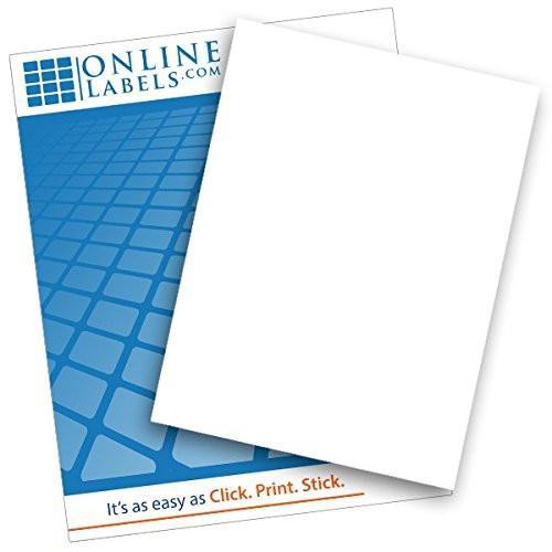 Matte White Vinyl Sticker Paper (100 Sheets)