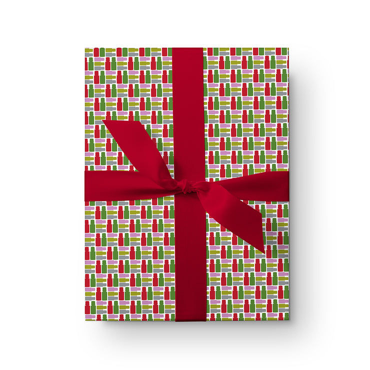 Holiday Mod Bottles Wrapping Paper Pack