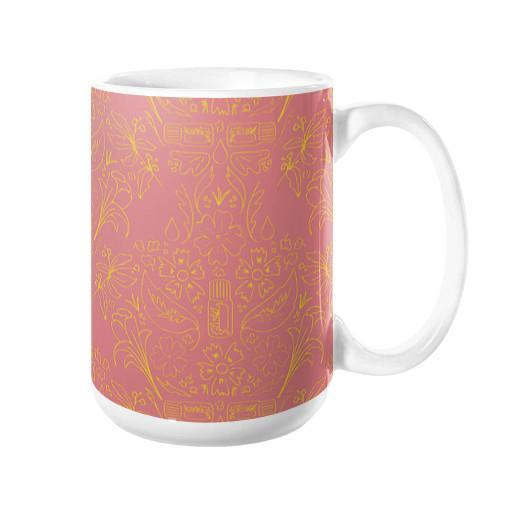 Mug 15oz Essential Bouquet- Pink Mug