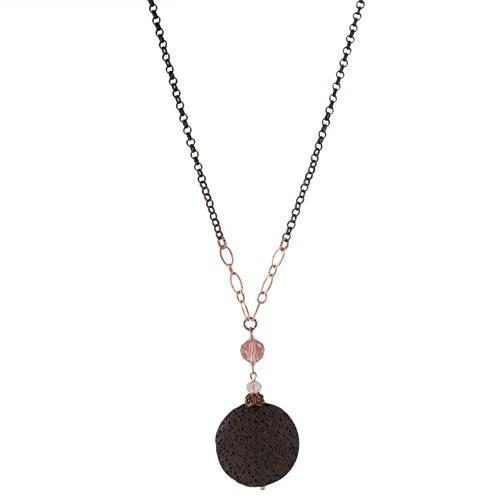 Natural Crystal & Lava Rock Essential Oil Diffuser Necklace