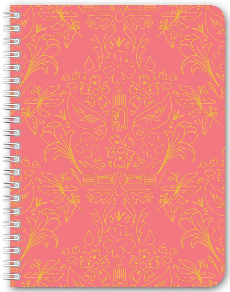 Notebook 5.5x7.25 inch / Small Notebook with Wire-O / 94 Essential Bouquet Notebook- Pink