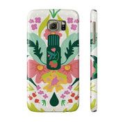 Phone Case Slim Galaxy s6 Essential Bouquet- Tan Phone Case