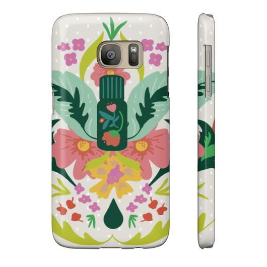 Phone Case Slim Galaxy s7 Essential Bouquet- Tan Phone Case
