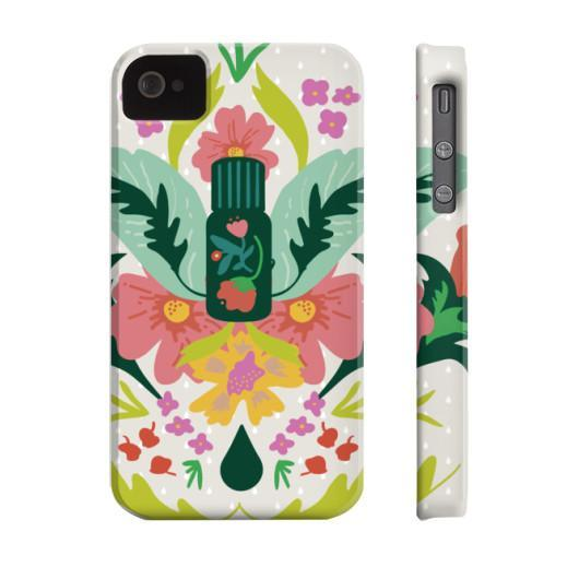 Phone Case Slim iPhone 4/4s Essential Bouquet- Tan Phone Case