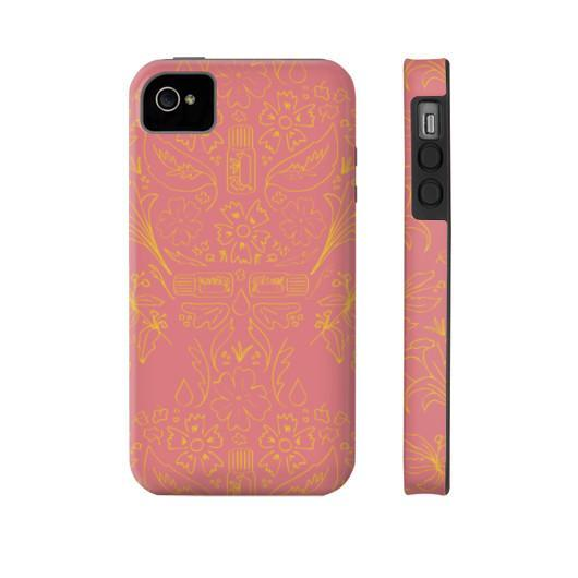 Phone Case Tough iPhone 4/4s Essential Bouquet- Pink Phone Case