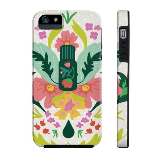Phone Case Tough iPhone 5/5s/5se Essential Bouquet- Tan Phone Case