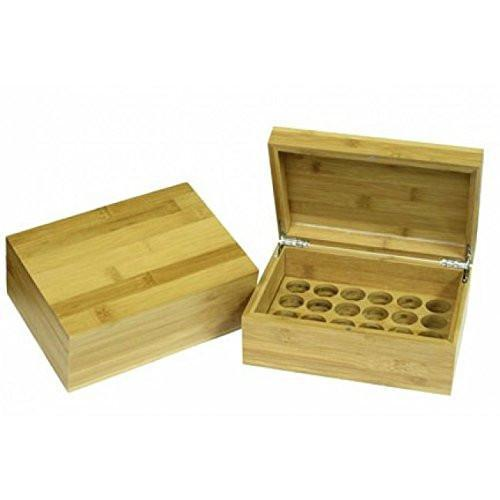Plantlife Bamboo Essential Oil Storage Box- Holds 24 Individual 10ml Bottles