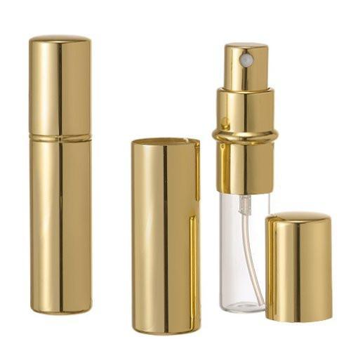 Riverrun Set of 3 Gold Purse Travel Perfume Cologne Atomizers Spray Bottle 10ml 1/3 oz (Set of 3)