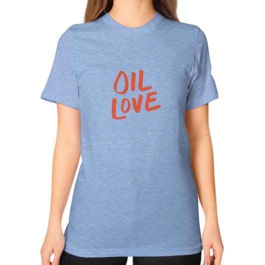 T-Shirt S / Tri-Blend Blue Oil Love Unisex T-Shirt
