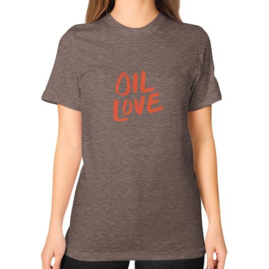 T-Shirt S / Tri-Blend Coffee Oil Love Unisex T-Shirt