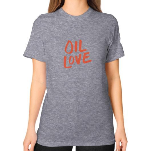 T-Shirt S / Tri-Blend Grey Oil Love Unisex T-Shirt