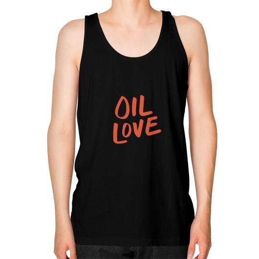 Tank Top XS / Black Oil Love Unisex Fine Jersey Tank