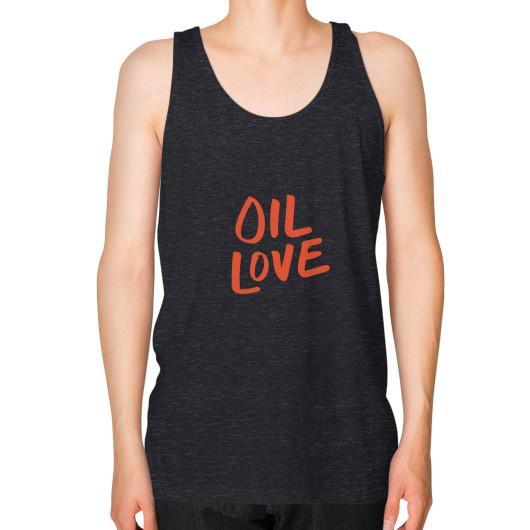Tank Top XS / Tri-Blend Black Oil Love Unisex Fine Jersey Tank