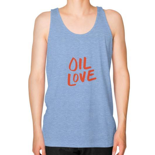 Tank Top XS / Tri-Blend Blue Oil Love Unisex Fine Jersey Tank
