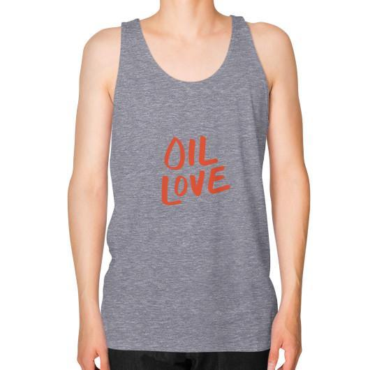 Tank Top XS / Tri-Blend Grey Oil Love Unisex Fine Jersey Tank