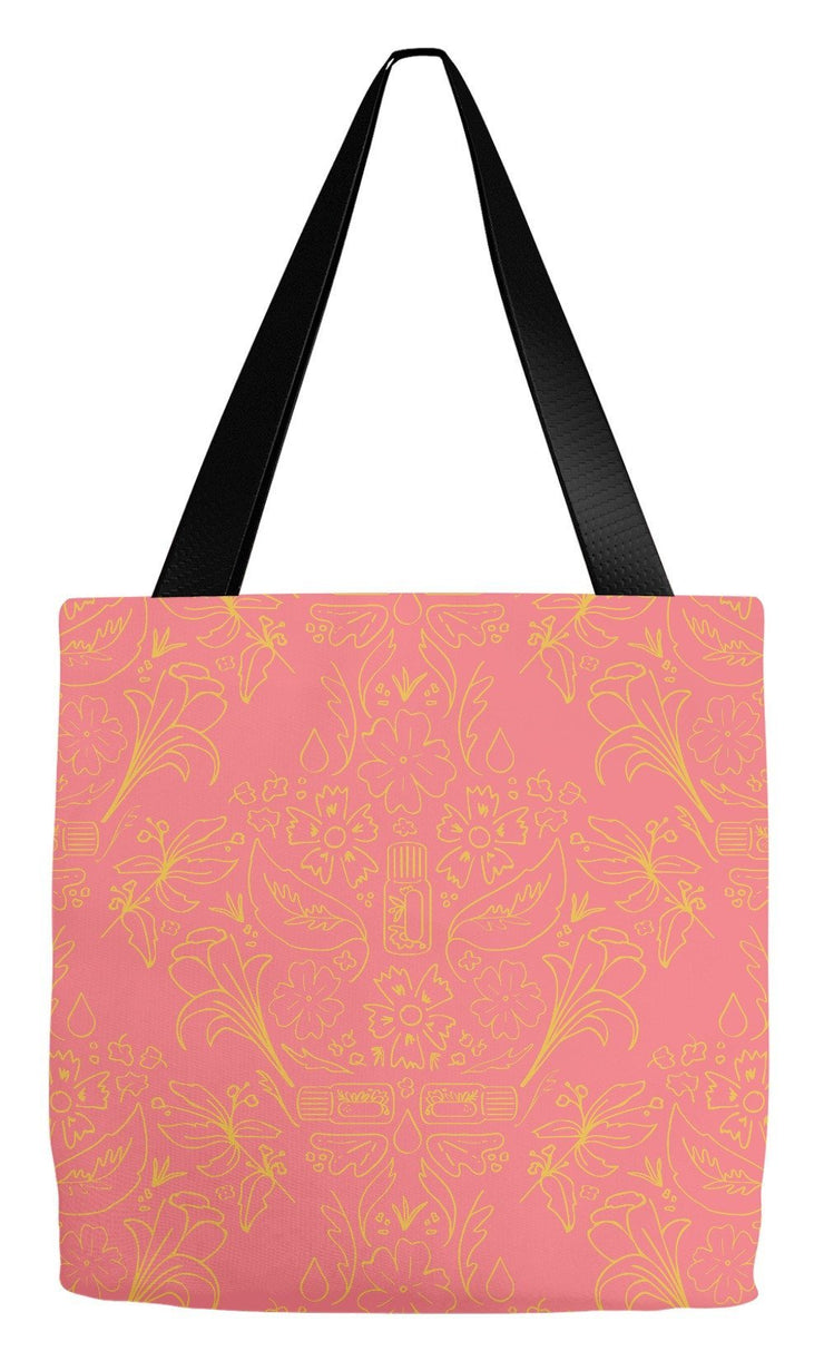 Tote Bag 18x18 inch Essential Bouquet Tote- Pink