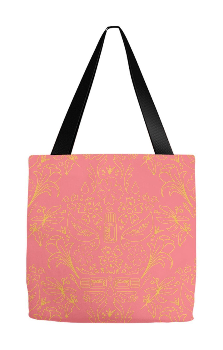 Tote Bag 9x9 inch Essential Bouquet Tote- Pink