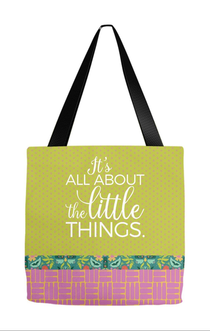 Tote Bag 9x9 inch Little Things Tote