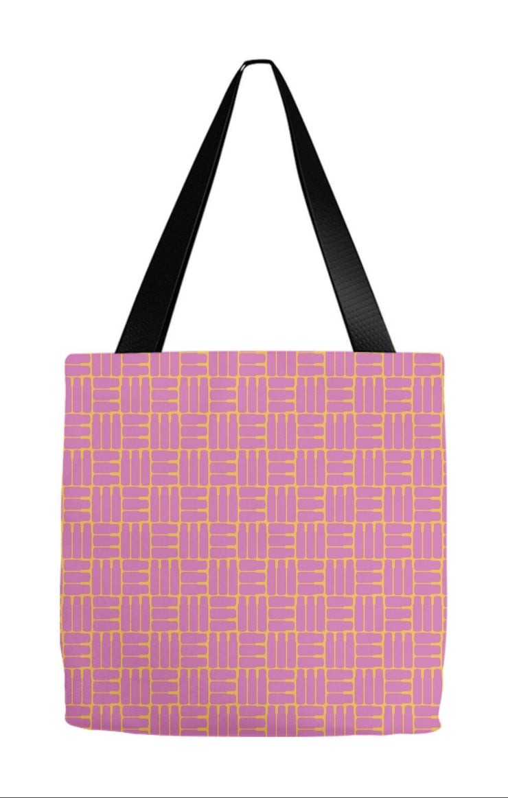 Tote Bag 9x9 inch Mod Bottles Tote
