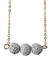 White Lava Bead Essential Oil Diffuser Necklace