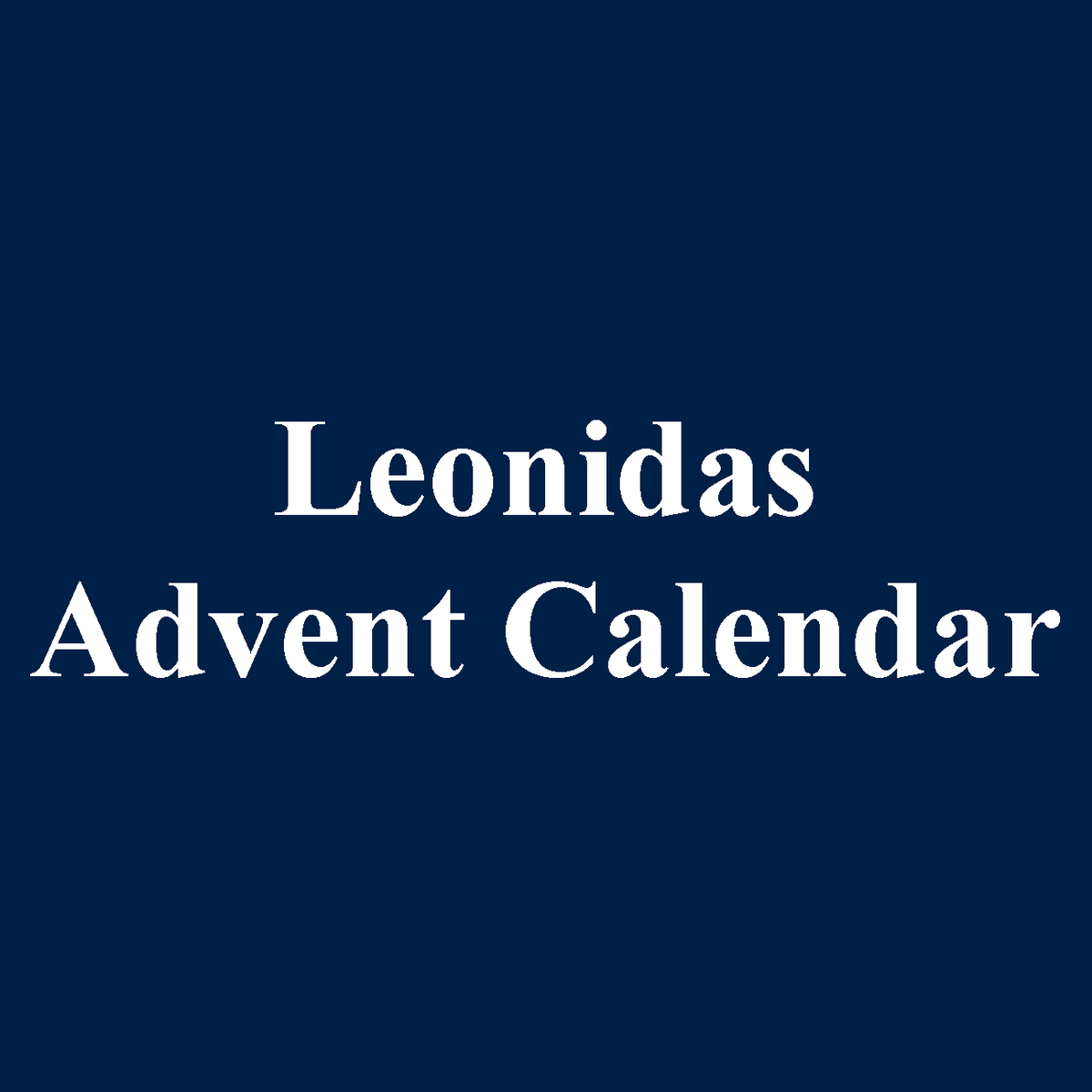 Leonidas Chocolate Advent Calendar