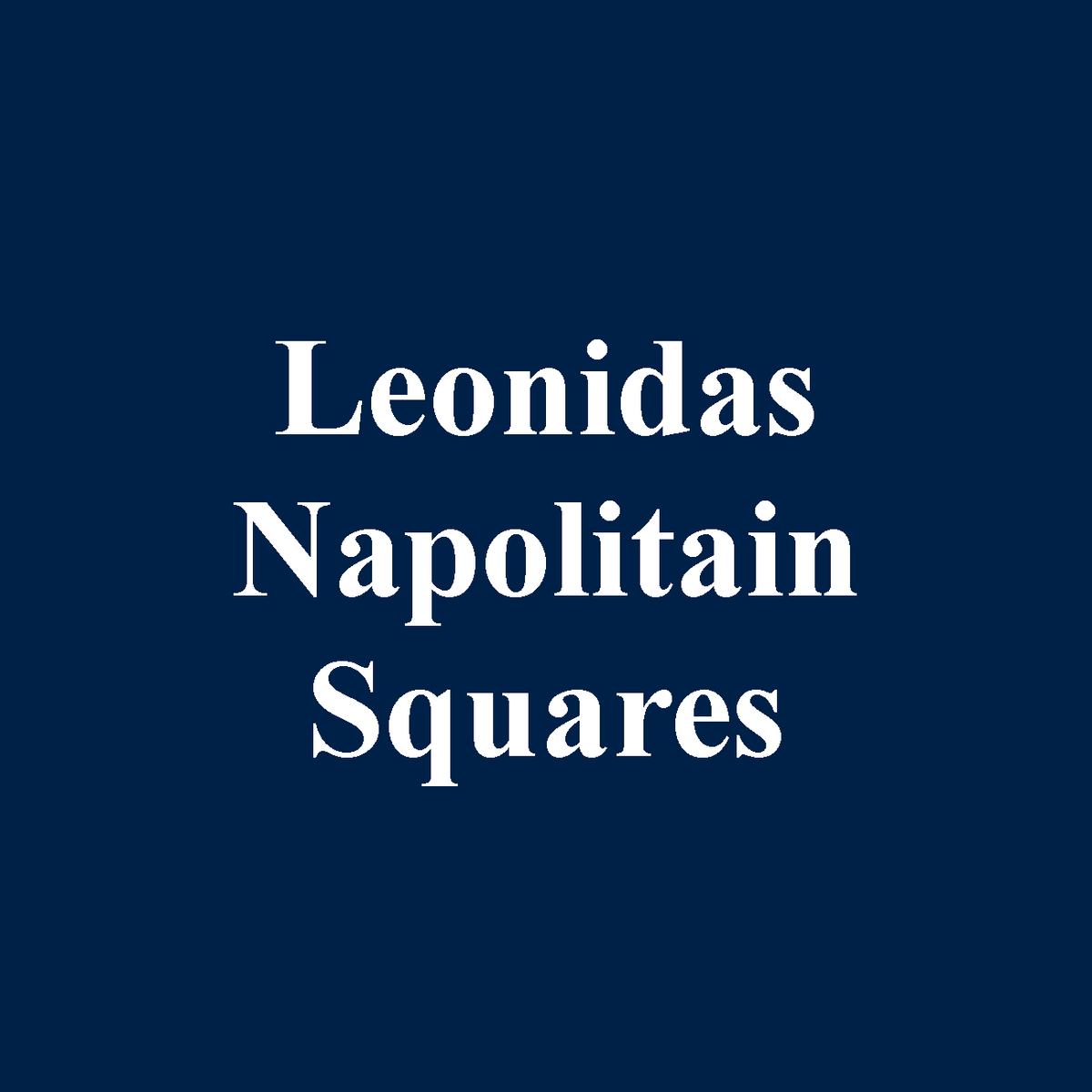 Leonidas Belgian Chocolates individually wrapped Napolitains Squares