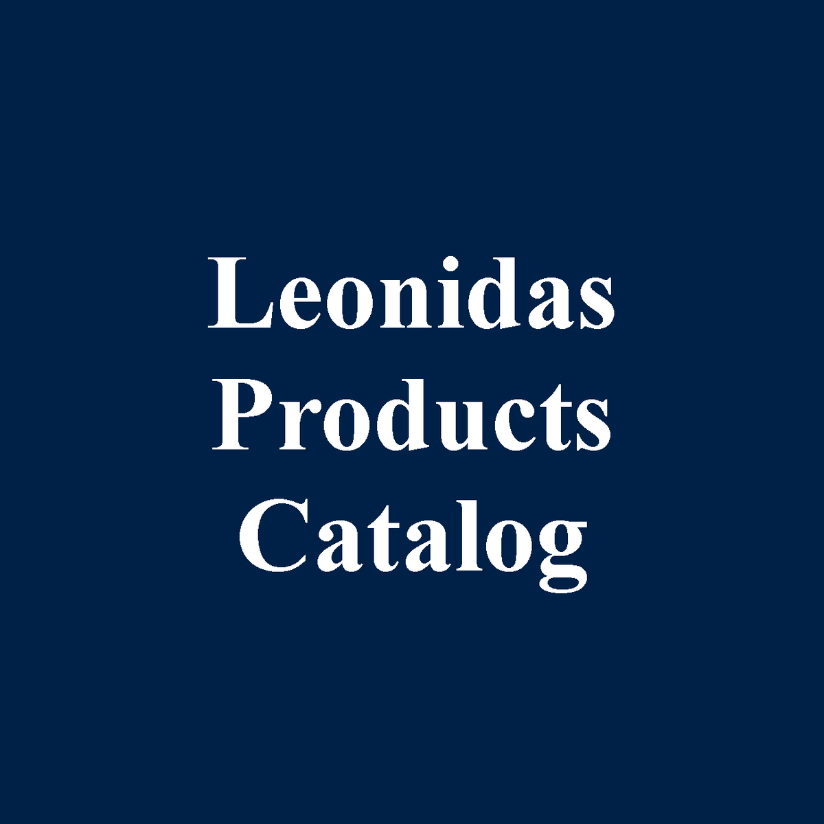 Leonidas Belgian Chocolates Product Catalog