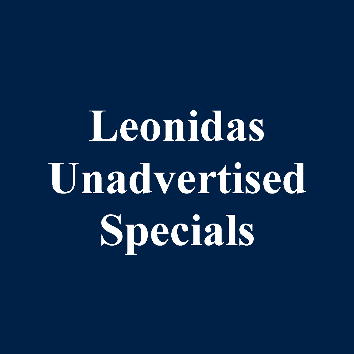 Leonidas Belgian Chocolate Unadvertised Specials