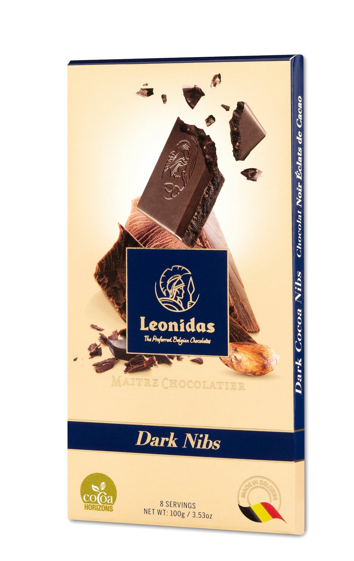 Leonidas Dark Chocolate Bars Assorted Flavors (10 x 100g)