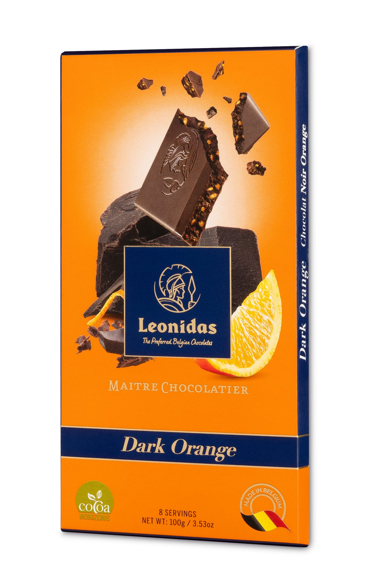 Leonidas Dark 54% Orange Bars (6 x 100g)