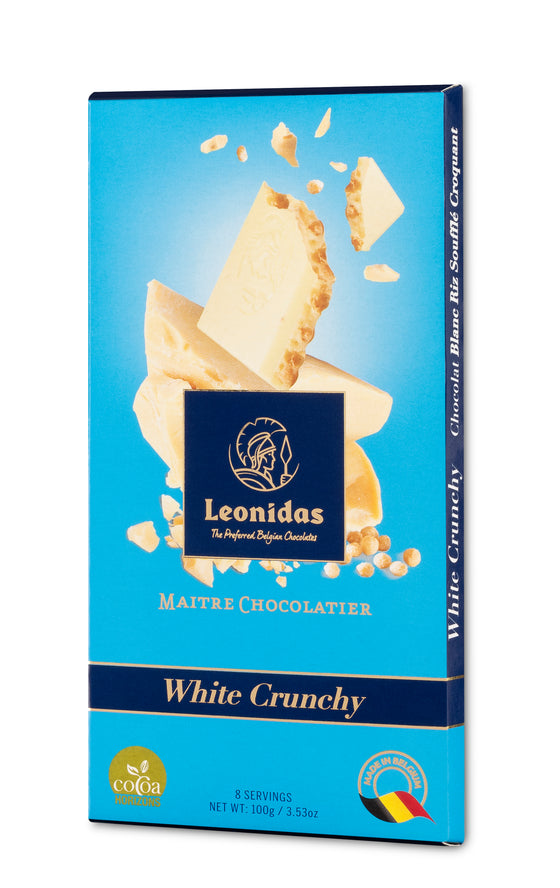 Leonidas White Crunchy Puffed Rice Bars (6 x 100g)